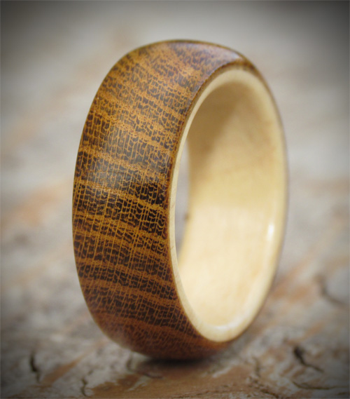 Holly & Laburnum Windfall Wooden Ring