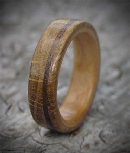 Scottish Oak, Walnut & Cherry Wooden Ring