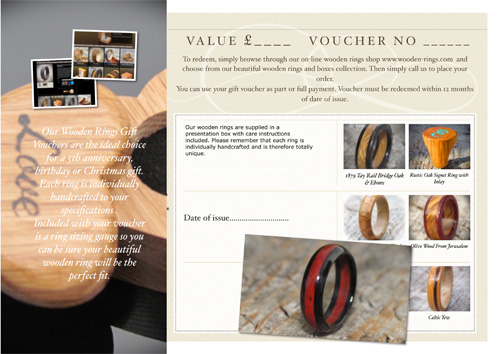 Wooden rings gift vouchers