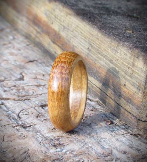 rings made from whisky cask
