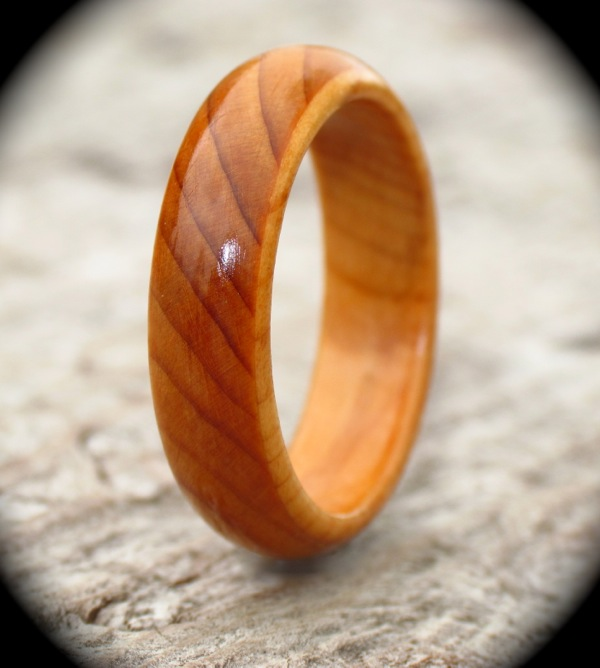 Yew court wood ring for How to make a wooden ring