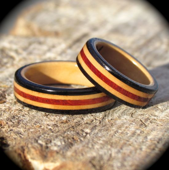 Celebration twin wooden rings
