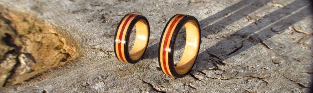 wooden rings 5th anniversary  ts by the wood hut scotland