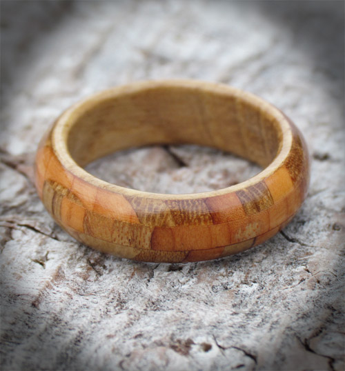 Collection of Scottish Woods Narrow Band Wooden Ring
