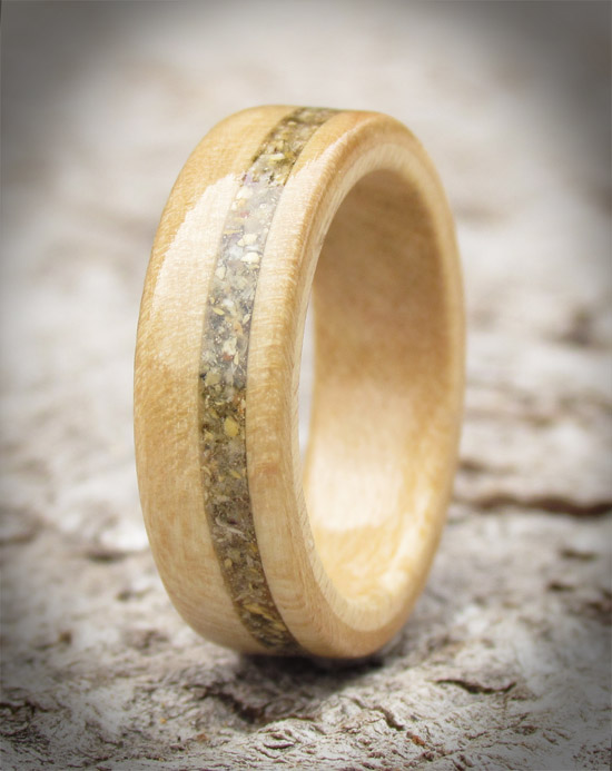 Holly and Shetland Isles Sand Wooden Ring