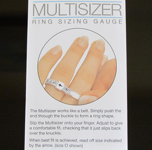 Easy ring sizing