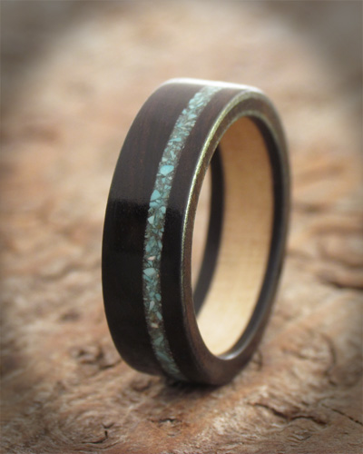 wooden promise ring