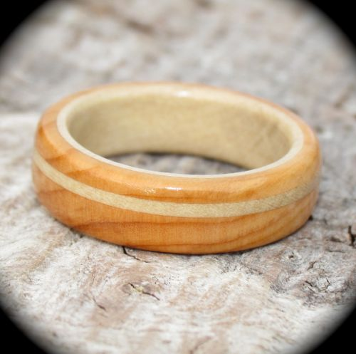 Yew and holly wood ring