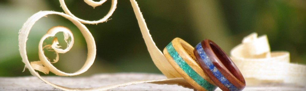 Handcrafted Wooden Wedding Rings