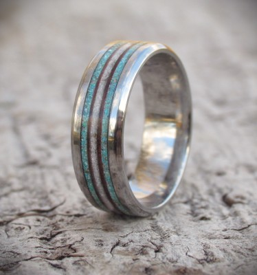 Ocean Breeze Titanium Ring UK size V US size 10 3/4