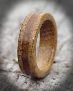 Oak & Amber Wooden Rings
