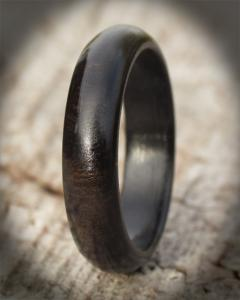 Touch Africa Narrow Band Wooden Ring