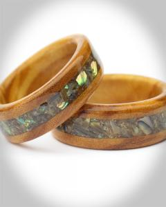 Fifth Wedding Anniversary wooden ring