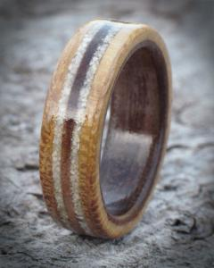 Coral Oak & Walnut Wooden Band