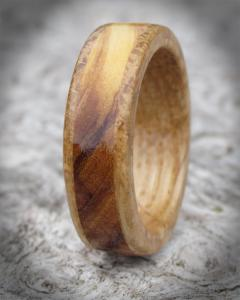 Olivewood and Oak wooden rings