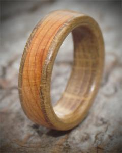 Yew and Oak Wooden Ring