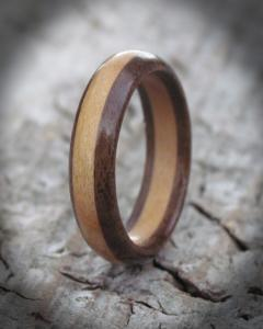 Cherry and Walnut wooden ring