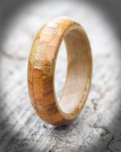 Collection of Scottish Woods Narrow Band Ring