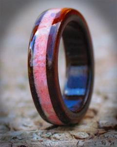 Indian Rosewood & Gemstone Ring