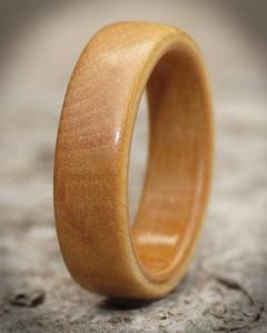 Silver Birch Wood Ring