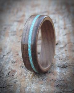 Walnut Wooden Engagement Ring
