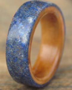 Gemstone, Wood & Micro Fibreglass Ring